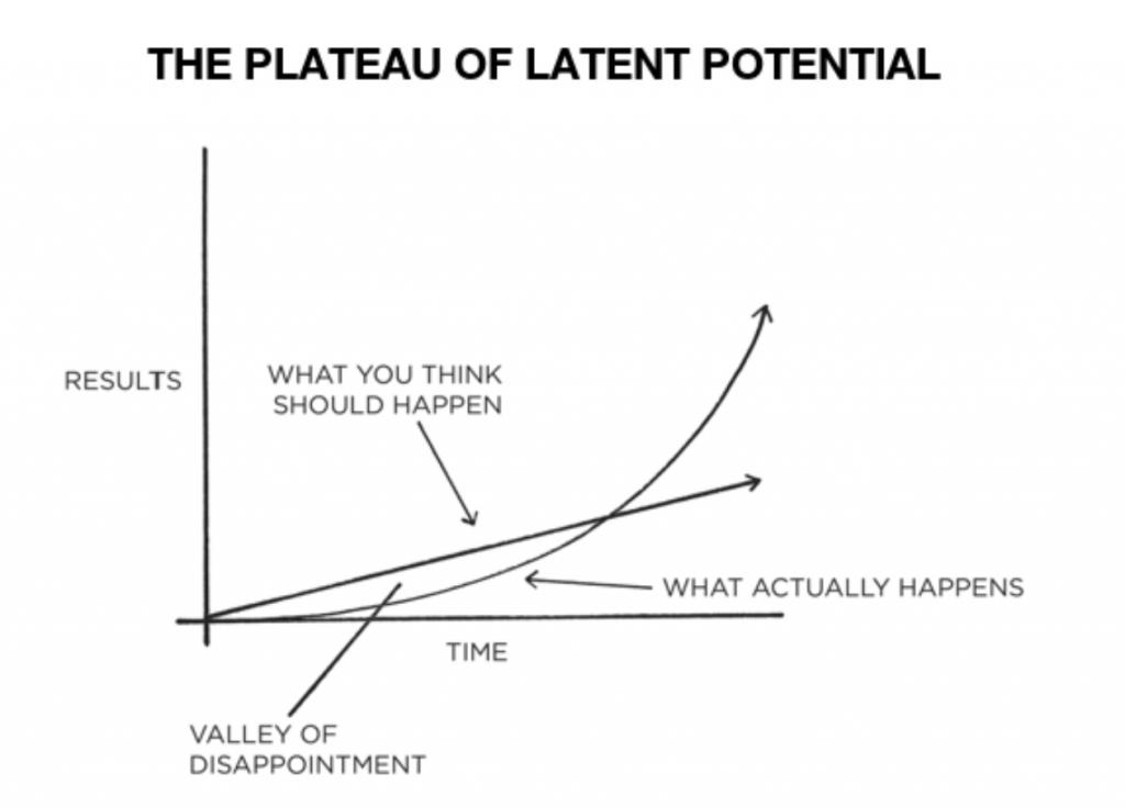 Il plateau del potenziale latente Simone Dassereto James Clear