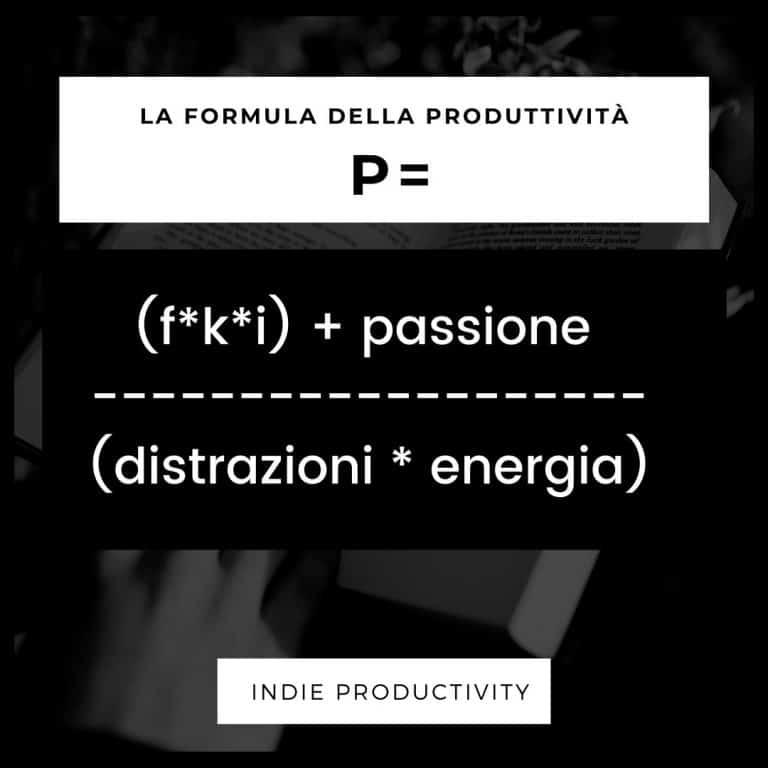 Indie Productivity Formula Produttivita