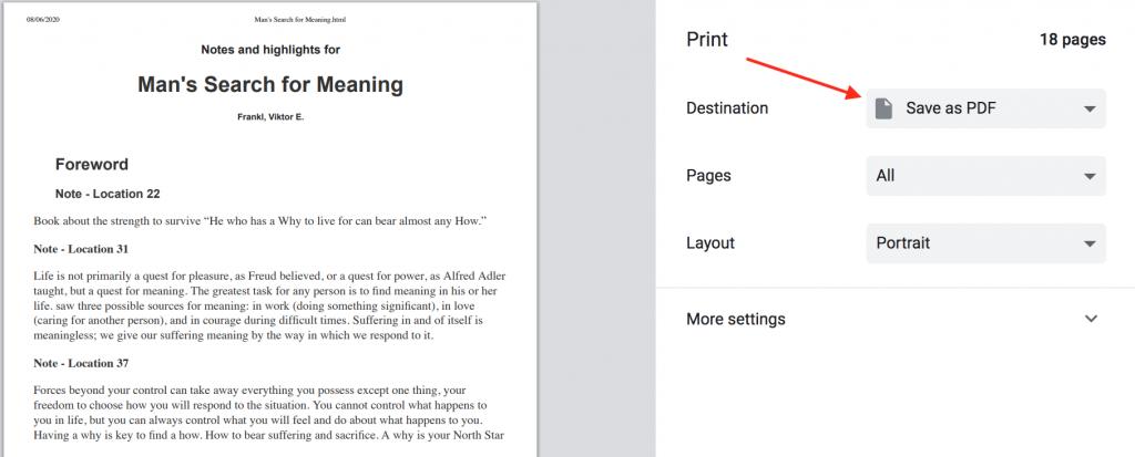 Kindle Salva nota come PDF come migliorare la memoria