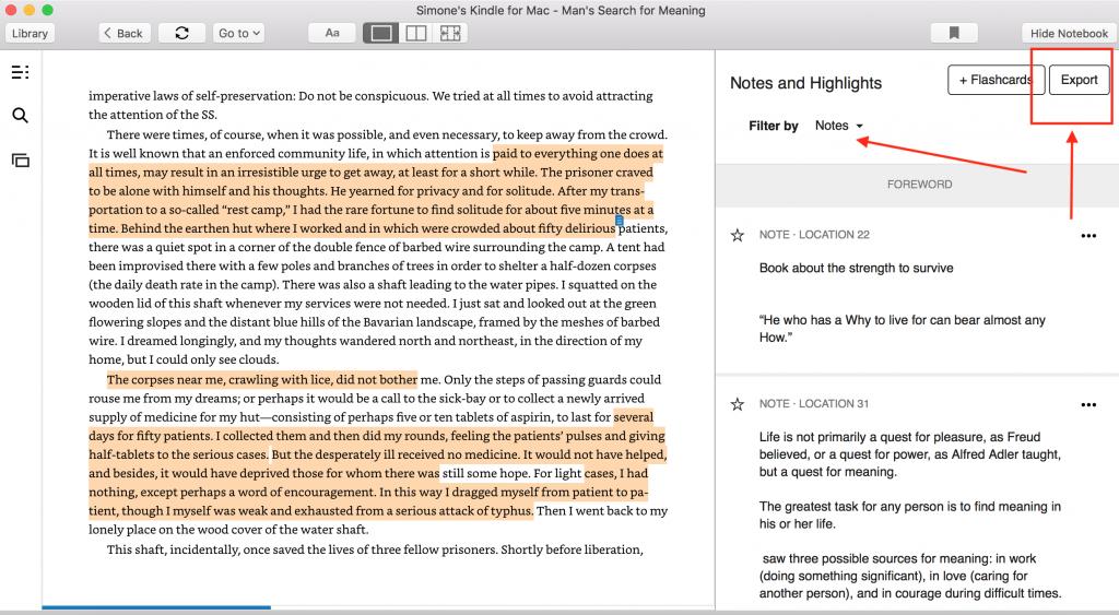 Kindle Esporta note come migliorare la memoria